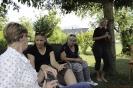 Brigitte, Michaela, Ingrid und Sabine am Genießen