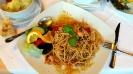 Spaghetti mit Lachs und Pfifferlinge