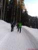 In der Zwischenzeit auf dem Winterwanderweg Sabine, Michaela, Maggy, Beate, Fotografin Jolanda