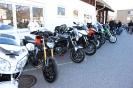 Unsere Motorräder aufgereiht und schön präsentiert
